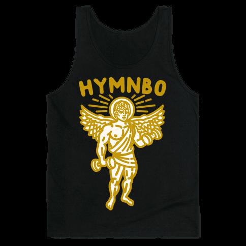 Hymnbo Angel Parody White Print Tank Top