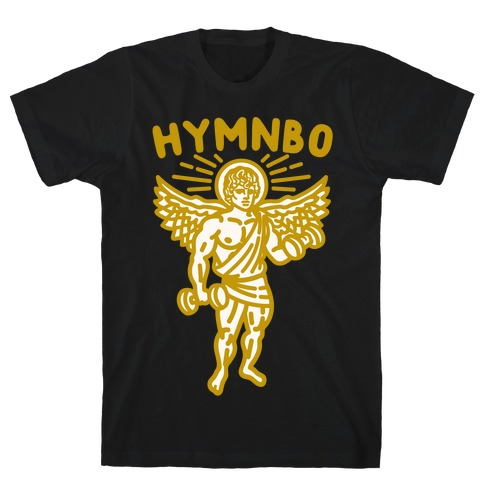 Hymnbo Angel Parody White Print T-Shirt