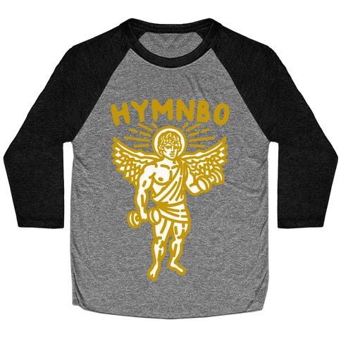 Hymnbo Angel Parody White Print Baseball Tee