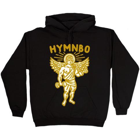Hymnbo Angel Parody White Print Hooded Sweatshirt