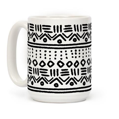 Abstract Geometric Black and White Boho Pattern Coffee Mug
