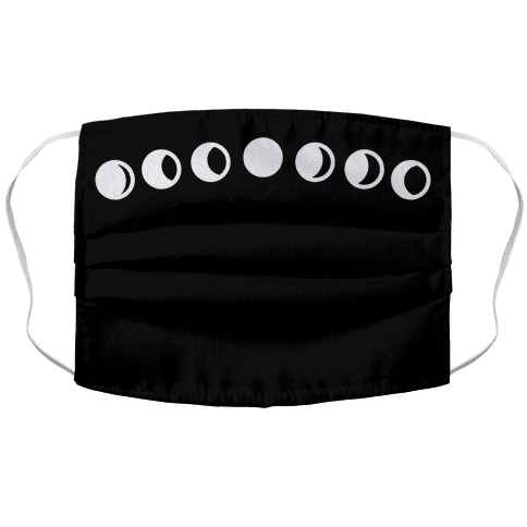 Moon Phase Face Mask Cover