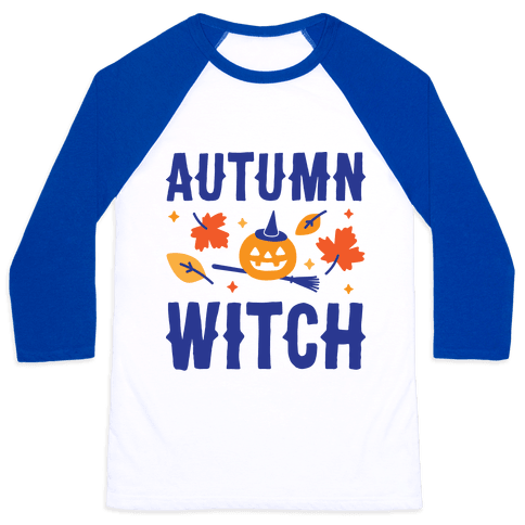 Autumn Witch Baseball Tee