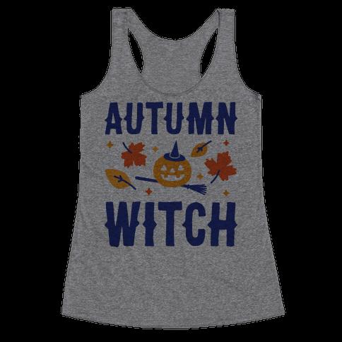 Autumn Witch Racerback Tank Top