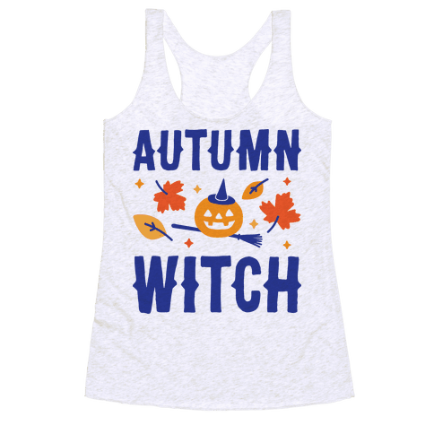 Autumn Witch Racerback Tank Top