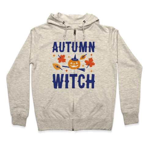 Autumn Witch Zip Hoodie