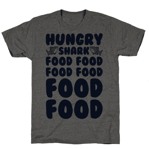 Hungry Shark Baby Shark Parody Mens T-Shirt