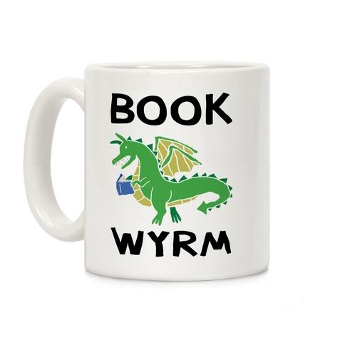 Book Wyrm Dragon Coffee Mug
