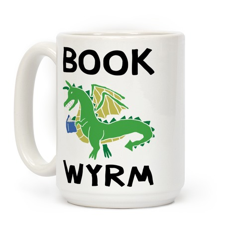 Book Wyrm Dragon Coffee Mug