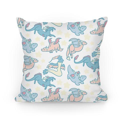 Dreamy Dragon Patern Pillow