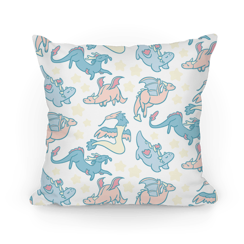 Dreamy Dragon Patern Pillow
