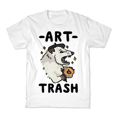 Art Trash Possum Kids T-Shirt