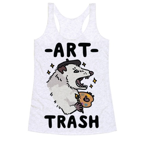 Art Trash Possum Racerback Tank Top