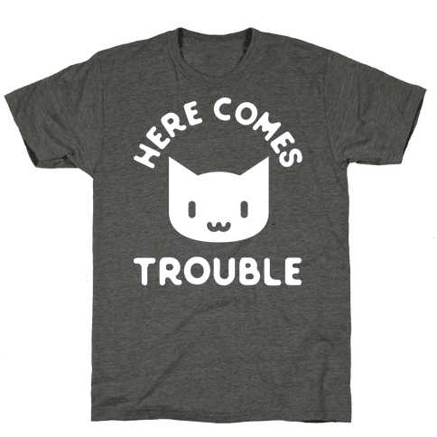 Here Comes Trouble Cat White