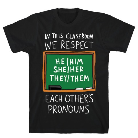 In This Classroom We Respect Each Other's Pronouns T-Shirt