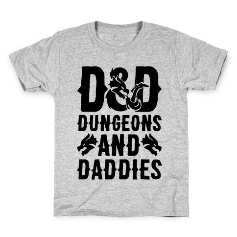 Dungeons and Daddies Parody Kids T-Shirt