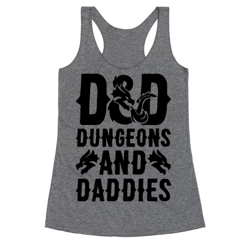 Dungeons and Daddies Parody Racerback Tank Top