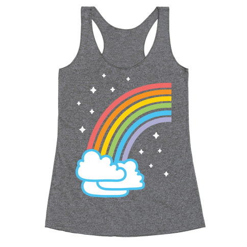 Rainbow Pair 1 (White) Racerback Tank Top