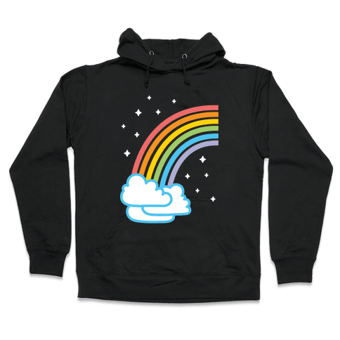 Rainbow Pair 1 (White) Hooded Sweatshirt