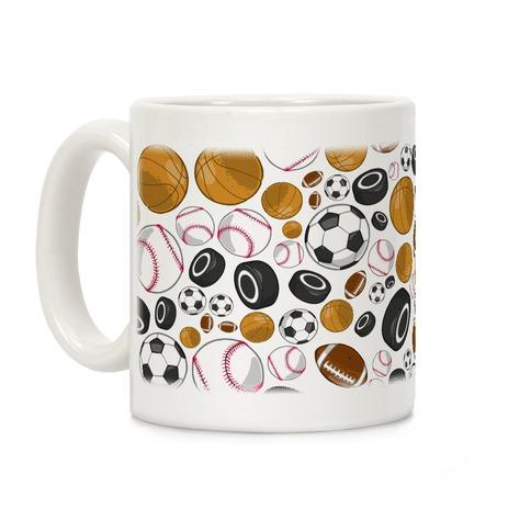 Sports Balls Pattern Coffee Mug