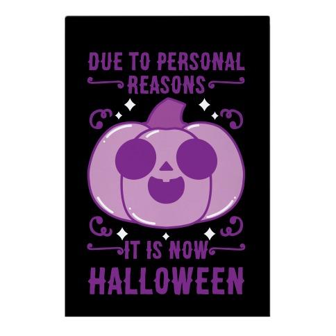 Due To Personal Reasons It Is Now Halloween Pumpkin (Purple) Garden Flag