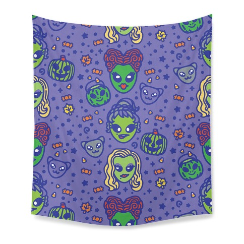 Witch Alien Sisters Parody Tapestry