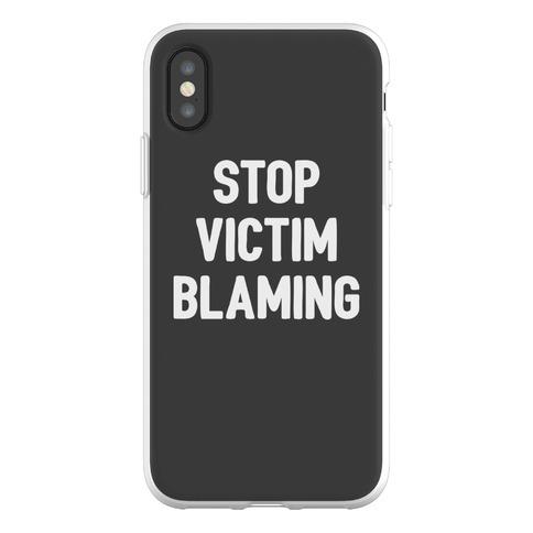 Stop Victim Blaming Phone Flexi-Case