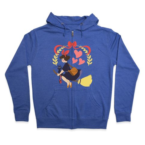 Delivery Witch - Kiki  Zip Hoodie