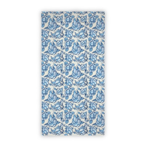 Floral Penis (Beach Towel) Beach Towel