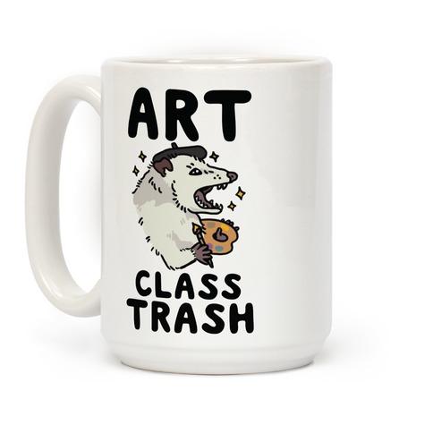 Art Class Trash Opossum Coffee Mug