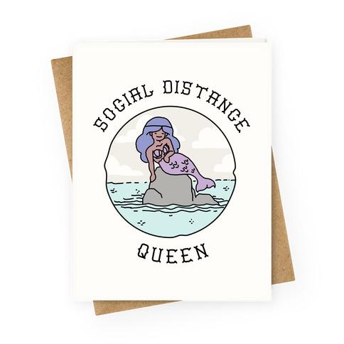 Social Distance Queen Mermaid Greeting Card
