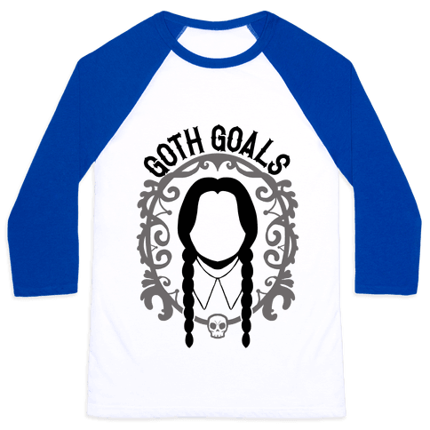 Wednesday Addams Goth Goals Baseball Tee