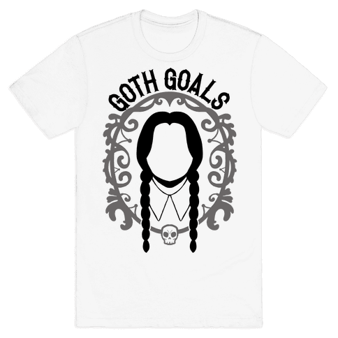 Wednesday Addams Goth Goals Mens T-Shirt
