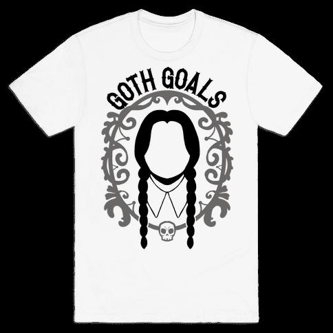 Wednesday Addams Goth Goals Mens T-Shirt
