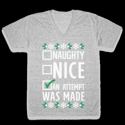 An Attempt was Made V-Neck Tee Shirt