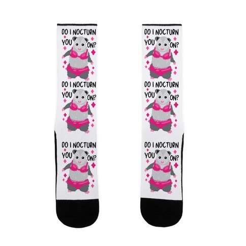 Do I Nocturn You On? Opossum Sock