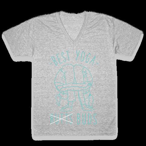 Best Yoga Buds V-Neck Tee Shirt