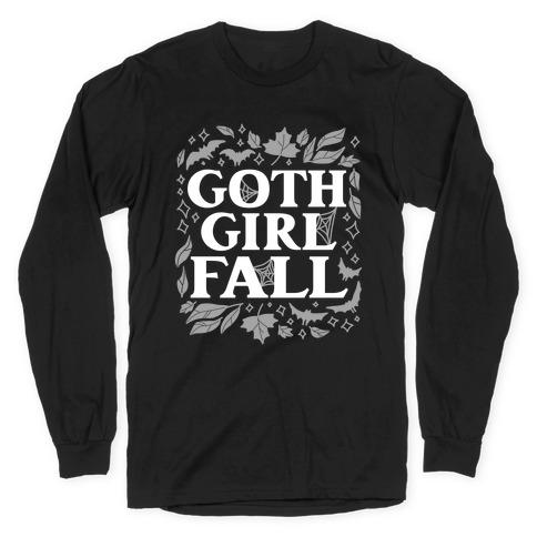 Goth Girl Fall Long Sleeve T-Shirt