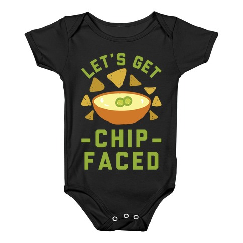 b100ee6fd23 Let s Get Chip Faced Baby Onesy