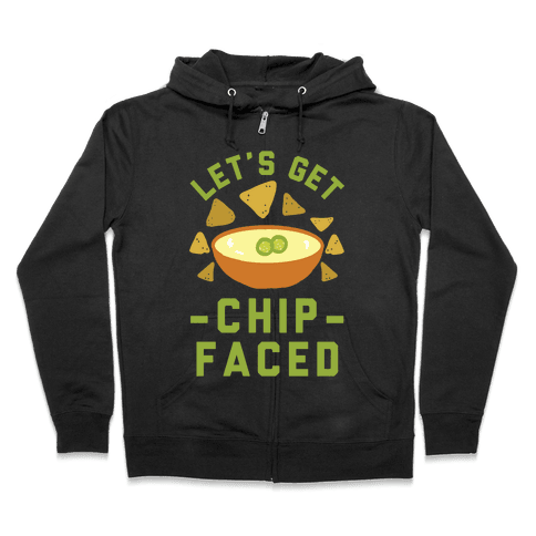 Let's Get Chip Faced Zip Hoodie