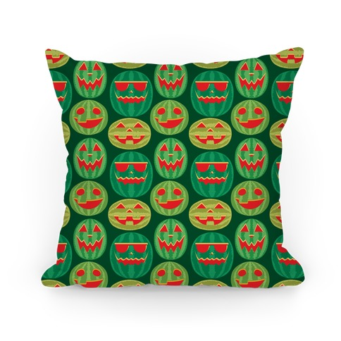 Jack-o-Melon Pattern Pillow