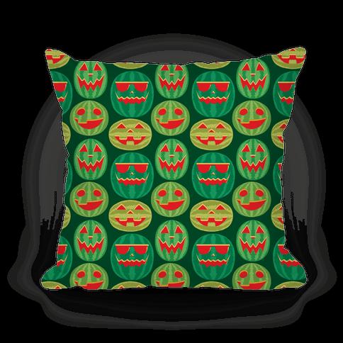 Jack-o-Melon Pattern Pillow
