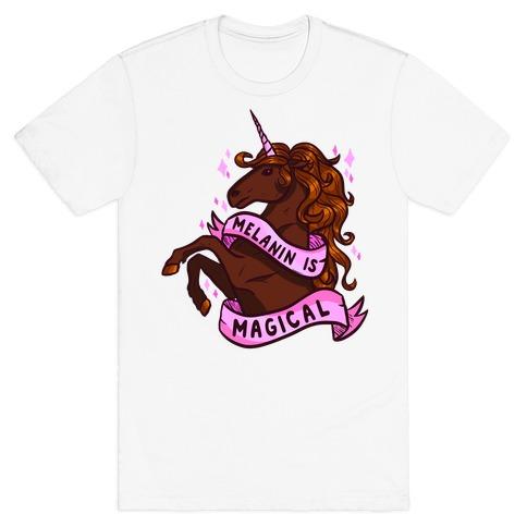 Melanin is Magical Unicorn T-Shirt