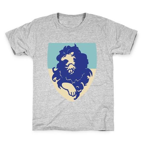 Blue Lion Crest - Fire Emblem Kids T-Shirt