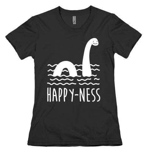 Happy-Ness Loch Ness Monster Womens T-Shirt