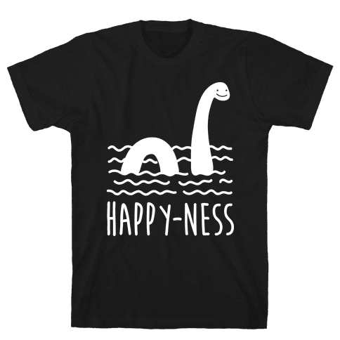 Happy-Ness Loch Ness Monster Mens T-Shirt
