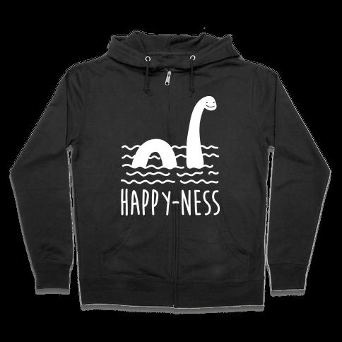 Happy-Ness Loch Ness Monster Zip Hoodie