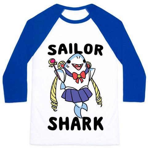Sailor Shark Baseball Tee
