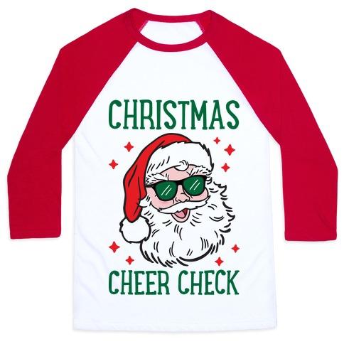 Christmas Cheer Check Baseball Tee