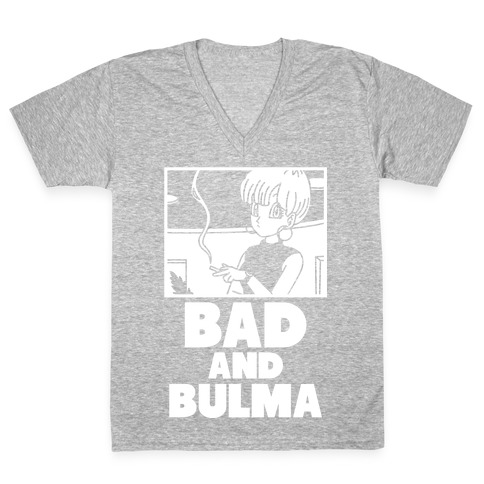 Bad And Bulma V-Neck Tee Shirt